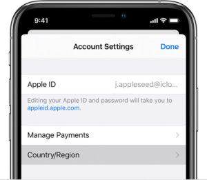 Смена региона в iPhone